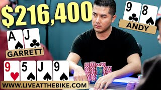 High Stakes Poker Hand Goes OFF THE DEEP END $216,400 at Stake | Garrett Adelstein vs Andy