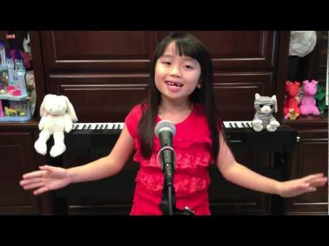 Rockin' Around The Christmas Tree (Brenda Lee) - Cover By 7 Year Old Thalia Tran