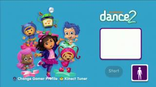 Nickelodeon Dance 2 Title Screen (Xbox 360, Wii)