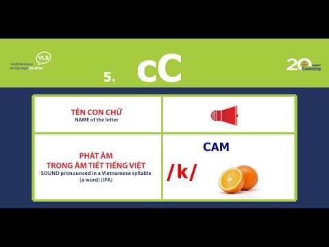 Learn Vietnamese with VLS - Vietnamese Alphabet (Part1 - 9 letters A-Ê)