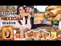 MEXICAN HOLIDAY Mukbang & WHITE Husband tries MEXICAN foods