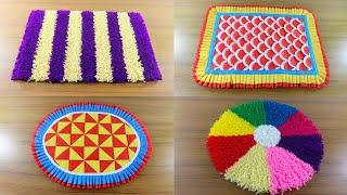5 Awesome Doormat Design Ideas ☔ Make Doormat at Home 🚲 Top 5 Creative Paposh Designs !