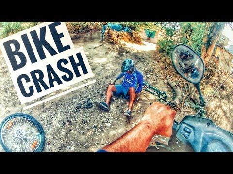 "Dhaval's  ""(TARZAN) "" MOTORCYCLE CRASH |CLOSE CAll Drone shots Dji spark India |GuJaraT Vlogs"