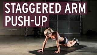 Exercise Tutorial - Staggered Arm Push-Up
