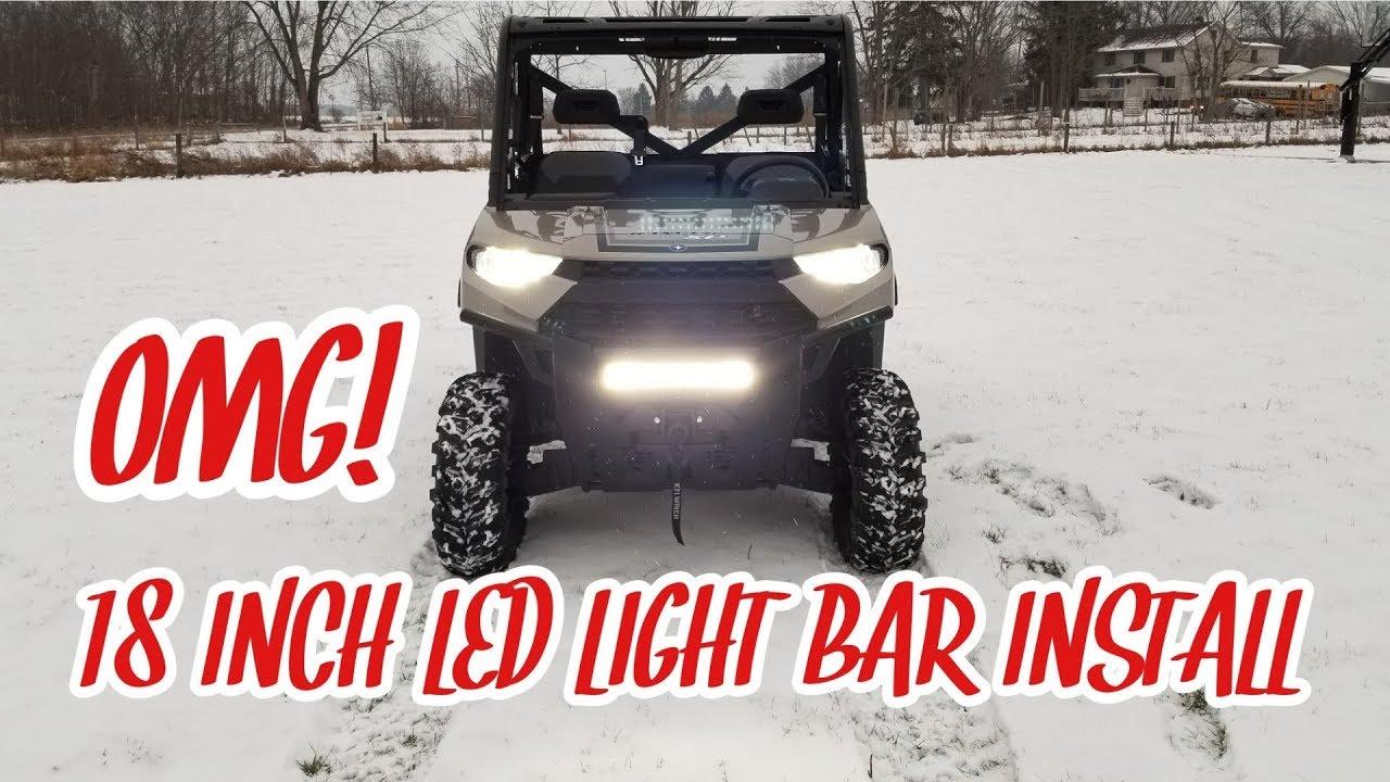 2018 polaris ranger xp 1000 led light bar install
