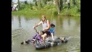 Водный велосипед(Мы сделали этот велосипед для конкурса шуточных плавсредств и заняли 1 место., 2013-08-12T05:55:10.000Z)