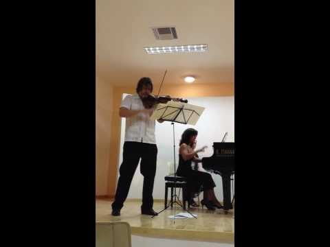 Franck sonata in A major for violin and piano mvt 4 (played by Kurt Nikkanen & Maria Asteriadou)