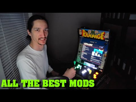 Arcade1up Rampage Cabinet: All The Best Mods! from Oregon Pacifist