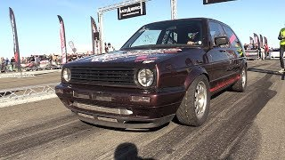 1300HP VW Golf 2 R33 Turbo - 333,33 KM/H Topspeed @ 1/2 Mile Acceleration!!