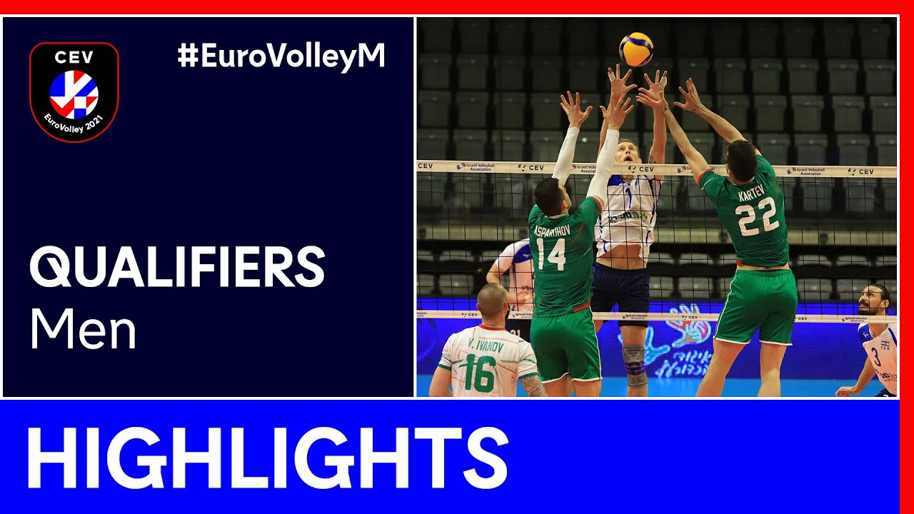 Bulgaria vs. Israel Highlights - #EuroVolleyM Qualifiers