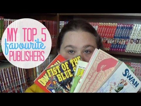 MY TOP 5 FAVOURITE MANGA PUBLISHERS