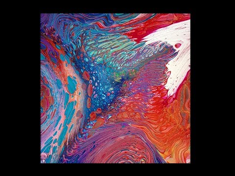 #609 Straight Dirty Pour In Red, Orange, Yellow And Turquoise