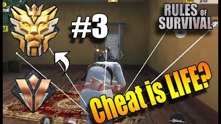 Rules of Survival - CHEATERS EVERYWHERE! BRONZE TO GRAND MASTER #3