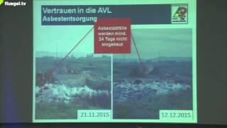 Atommüll-Endlager Schwieberdingen, LB 26.10.16: Vortrag Dr. D.-C. Vogt, BI Froschgraben-Freigemessen