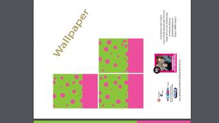 Dollhouse Wallpaper-Pink and Lime Wallpaper