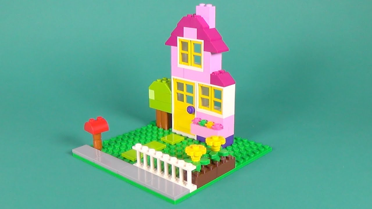 Lego house building instructions lego classic 10698 how for How to build a house step by step instructions