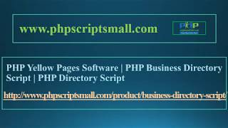 PHP Yellow Pages Software | PHP Business Directory Script | PHP Directory Script