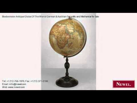 Biedermeier Antique Globe Of The World German & Austrian