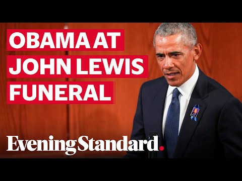 John Lewis funeral: Former US President Barack Obama pays tribute to late civil rights hero