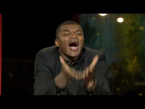 Marcel Desailly reacts to Asamoah Gyan missing penalty against Uruguay