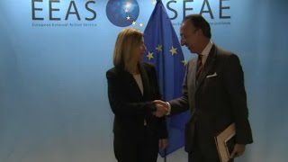 HRVP Federica Mogherini with Jorge DOMECQ, Chief Executive of the European Defence Agency EDA