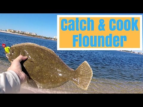 Catch & Cook Flounder - Surf Fishing Orange Beach