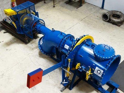 Kaplan Hydro Turbine testing in workshop