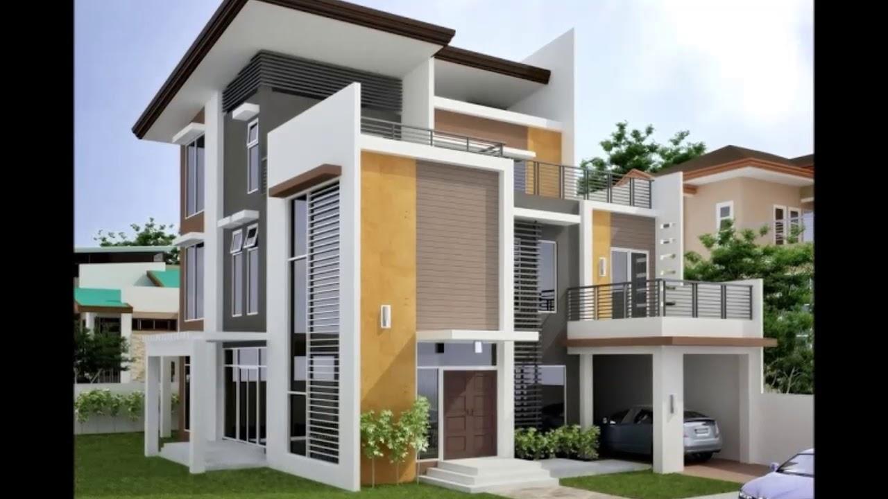 Desain Rumah 3 Lantai Minimalis Modern - YouTube