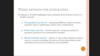 Cheryl Hunter - Integrating Data in Mixed Methods Research Seminar