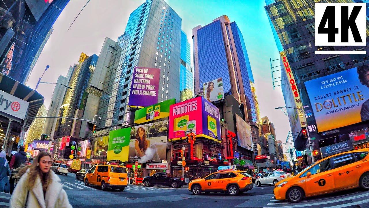 ⁴ᴷ⁶⁰ midtown manhattan new york city walking tour 2020