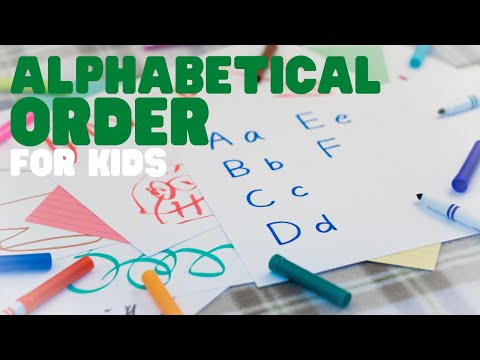 Alphabetical Order   ABC Order   Learn how to place words in alphabetical order.