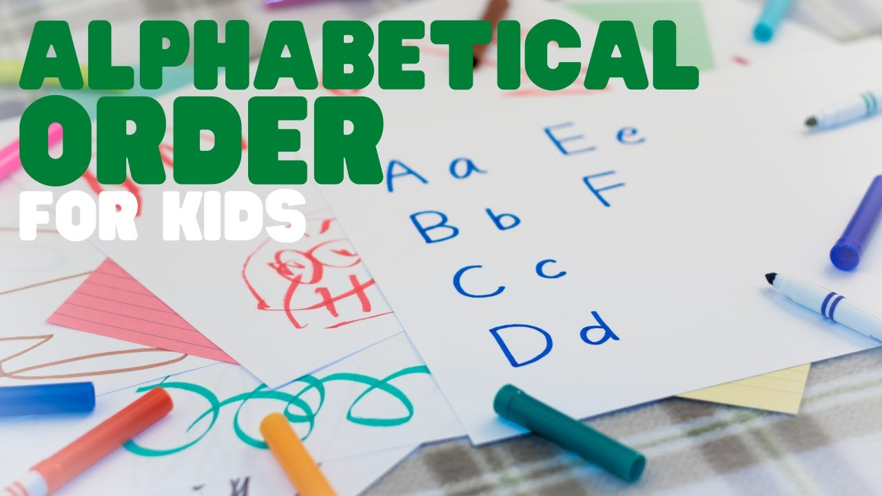 hight resolution of Alphabetical Order   ABC Order   Learn how to place words in alphabetical  order. - YouTube