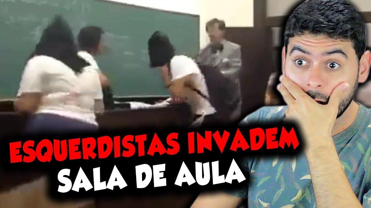 Esquerdistas invadem sala de aula para censurar professor