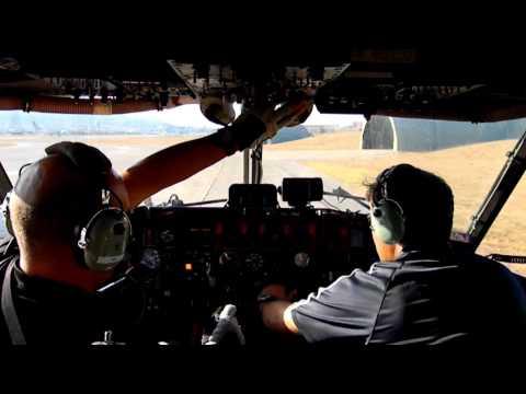 Canadair CL 215 startup