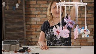 мобиль для детской кроватки с игрушками из фетра - своими руками / DIY