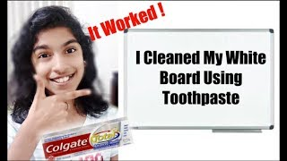 How To Clean White Board At Home | Easy Hack | Kids Happiness