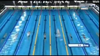 50m Backstroke Men Start List Heats 12th FINA World Swimming Championship 2014
