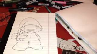 How to draw a graff toon