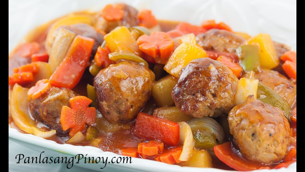 Sweet and Sour Meatballs - YouTube