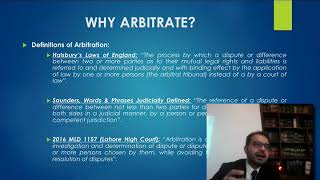 LBA Lecture: Overview of Arbitration and Arbitration Act 1940 by Barrister Hassan Nawaz Sheikh (1/2)