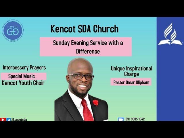 Kencot SDA - Sunday Night Meeting  with Pastor Omar Oliphant - July 25, 2021