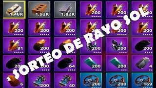 "SORTE OF RAYO Sol AND WEAPONS 130 "" WEEKLY"" / FORTNITE SAVE THE WORLD"
