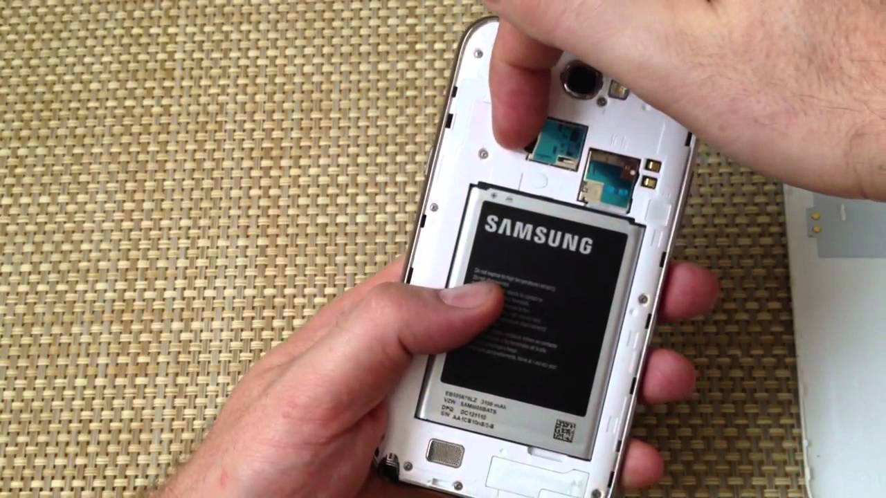 Samsung Galaxy Note 2 How To Remove Install Sim Card Sd