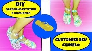 Sapatilha – alpargata com chinelo – como fazer – modelo sandália