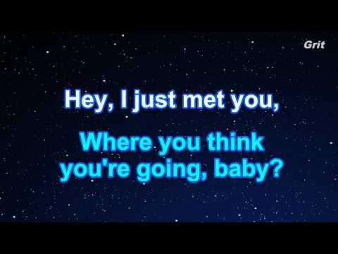 Call Me Maybe - Carly Rae Jepsen Karaoke【No Guide Melody】