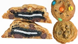 How To Make The Best Chocolate Chip Cookies! Oreo Stuffed Cookies, & M&m's 초코칩 쿠키 만들기