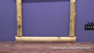 Red Cedar Log Mirror Frame From Logfurnitureplace.com