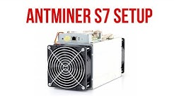 Antminer S7 and S9 Bitcoin Miner Setup