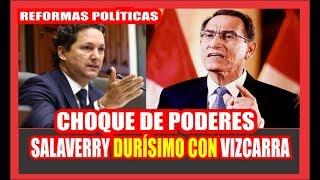 """#DanielSalaverry MUY MOLESTO CON #MartínVizcarra """"SI QUIERE CERRAR EL CONGRESO NO TENEMOS MIEDO"""""""