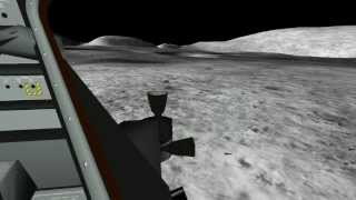 Apollo 17 lunar liftoff  Eaglelander3d